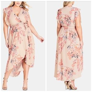 City Chic Sweet Delilah Maxi Dress Plus Size 22